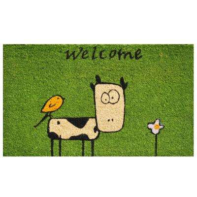 Cute Cow Door Mat 17 in. x 29 in.