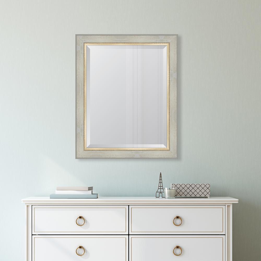 28 in. x 34 in. Framed 3 in. White Catalina Resin Frame Mirror