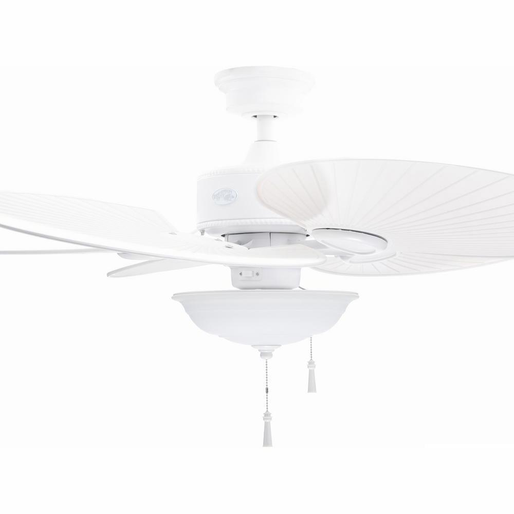 Hampton Bay Havana 48 in. LED Indoor/Outdoor Matte White Ceiling Fan with Light Kit was $149.0 now $119.0 (20.0% off)