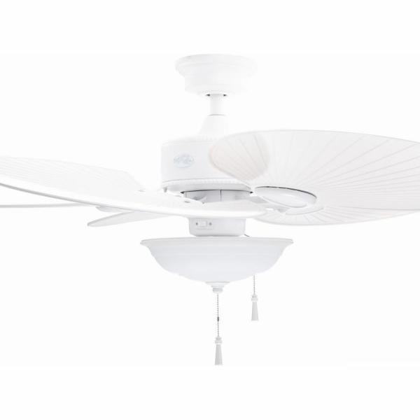 Havana 48 in. LED Indoor/Outdoor Matte White Ceiling Fan with Light Kit