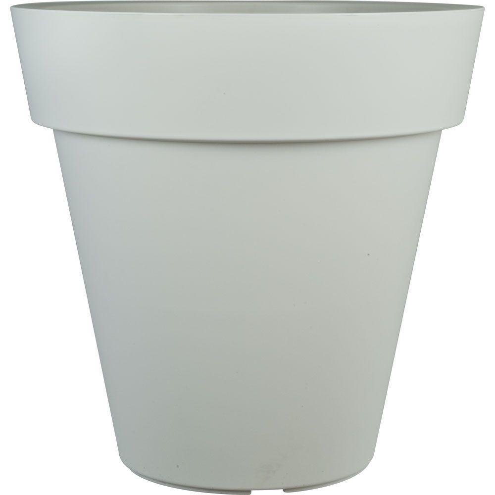 Pride Garden Products Mela 24 In Round White Plastic