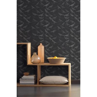 Debut Collection Tweeter in Black Removable and Repositionable Wallpaper