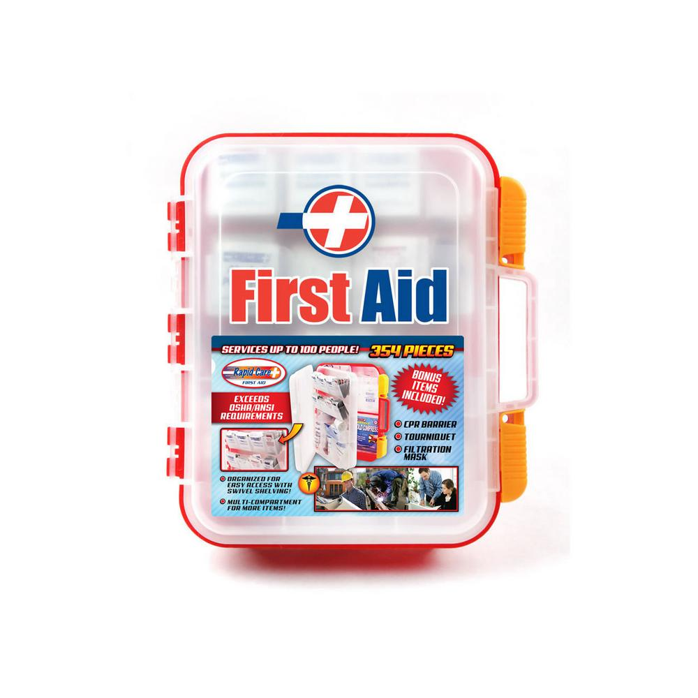 354-Piece OSHA Multi-Compartment Wall Mountable First Aid Kit with Easy Access