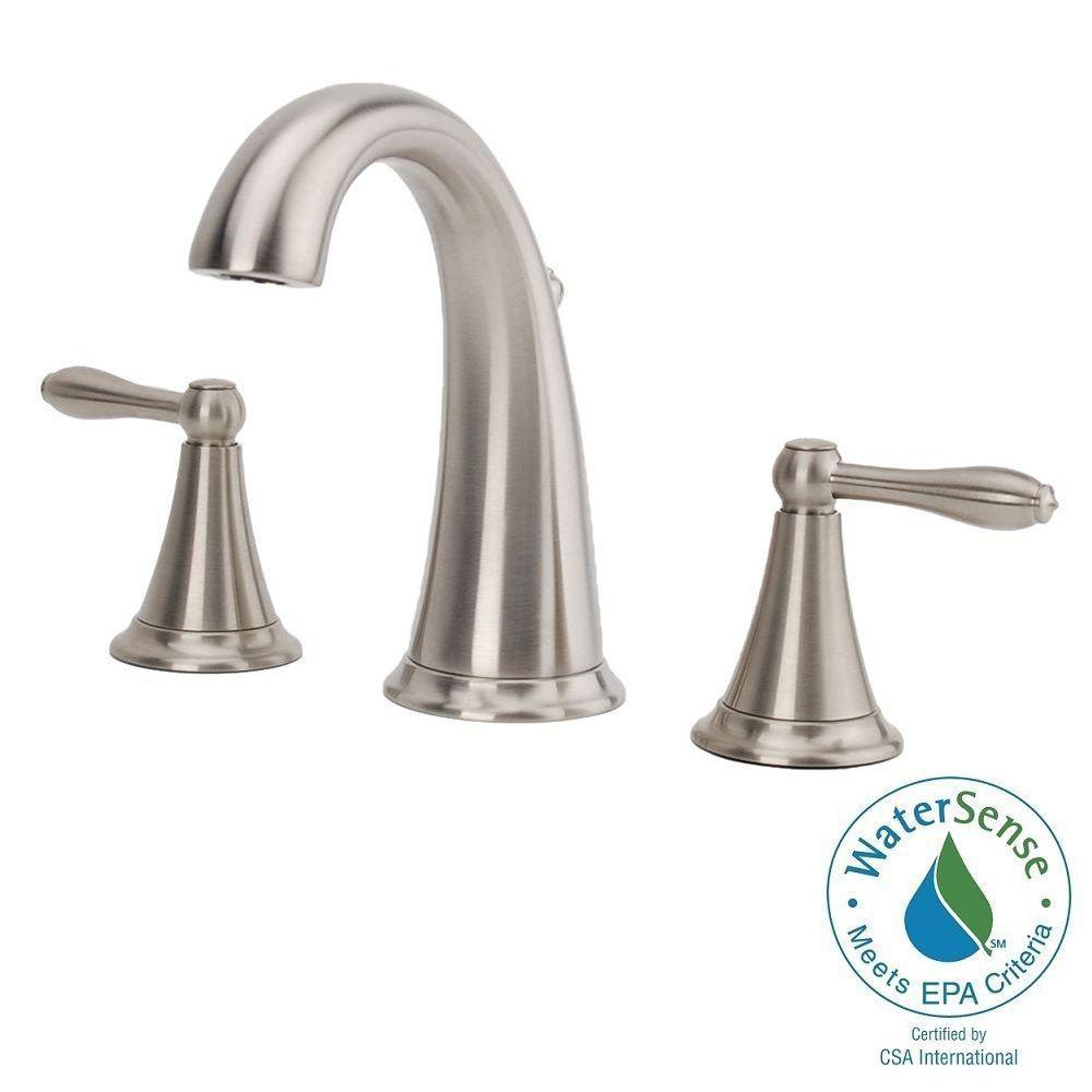 Fontaine Montbeliard 8 in. Widespread 2-Handle Mid-Arc Bathroom Faucet in Brushed Nickel