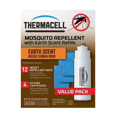 Earth Scent Mosquito Repellent 48-Hour Refill Pack for Appliances and Lanterns