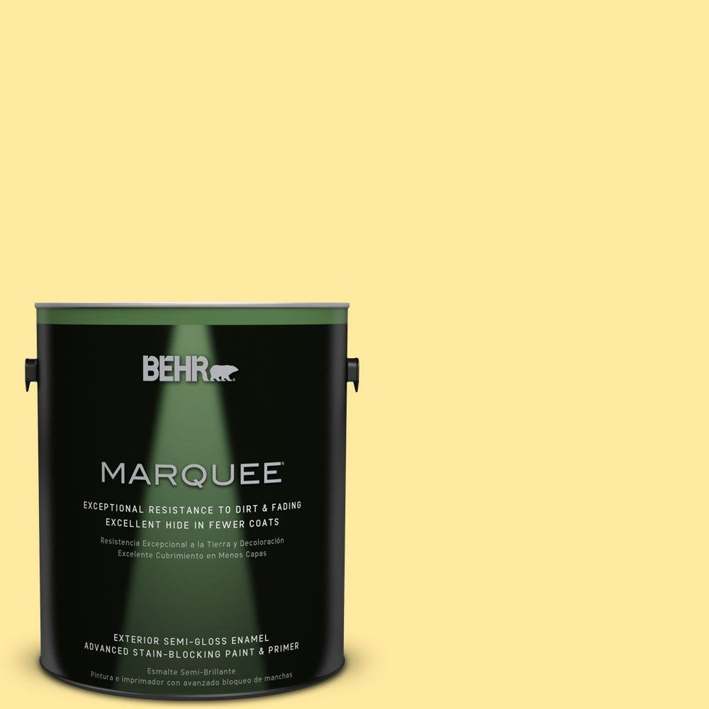 BEHR MARQUEE 1-gal. #P300-4 Rise and Shine Semi-Gloss Enamel Exterior Paint