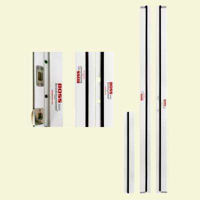 BOSS 1-1/4 in  x 4-9/16 in  x 83 in  PVC Jamb Moulding Left-Hand Inswing  Break-In Resistant Exterior Door Frame Kit