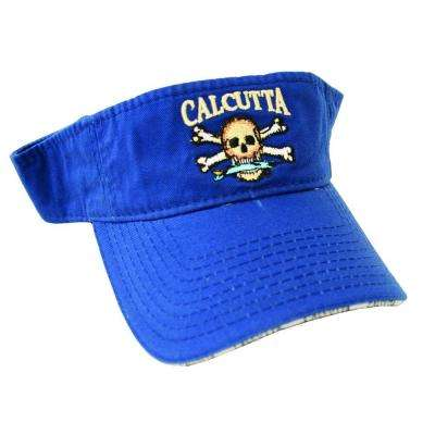 Adjustable Strap Low Profile Visor in Royal Blue with Fade-Resistant Logo
