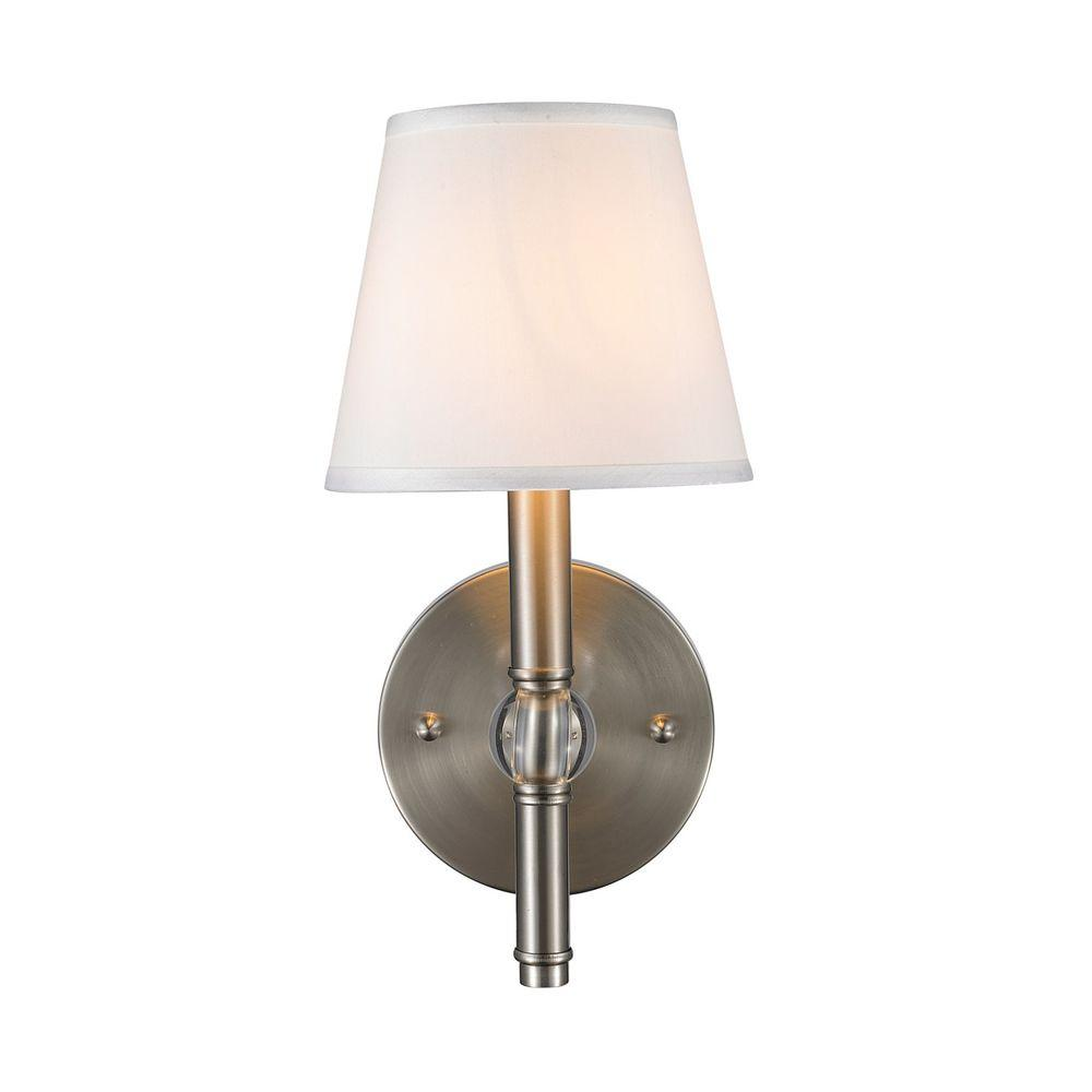 Waverly Collection 1-Light Pewter Sconce