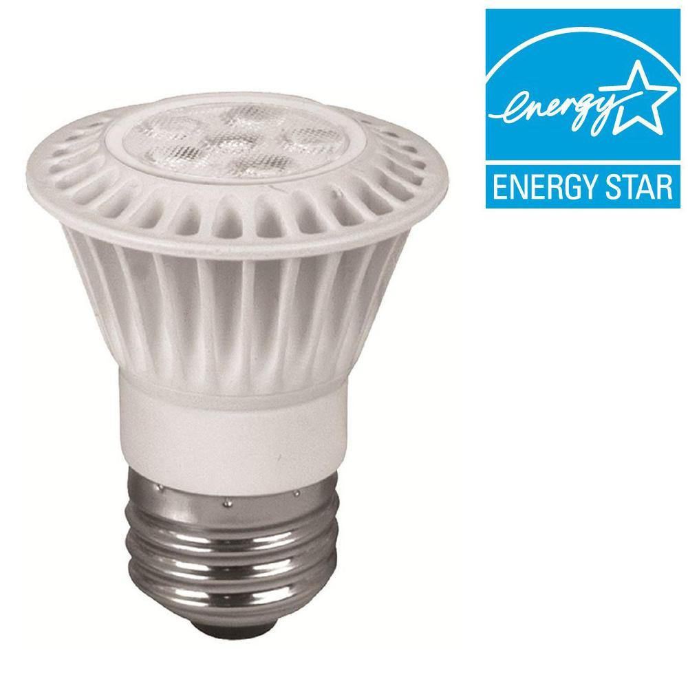 TCP 35W Equivalent Bright White (3000K) PAR16 Dimmable LED Narrow Flood Light Bulb