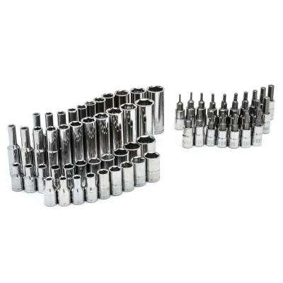 1/4 in. Drive SAE and Metric Socket Set (66-Piece)