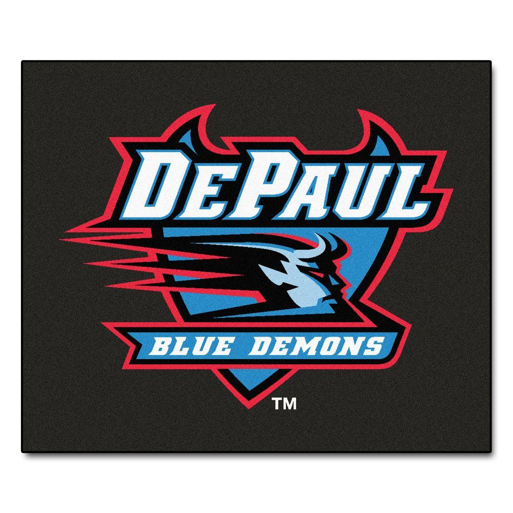 NCAA DePaul University Black 5 ft. x 6 ft. Area Rug