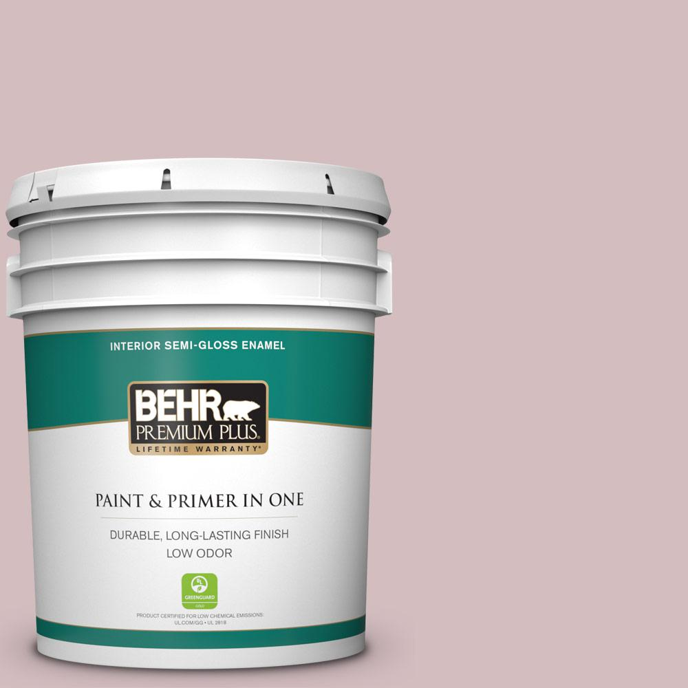 Reviews For Behr Premium Plus 5 Gal Ppu17 09 Embroidery Semi Gloss Enamel Low Odor Interior Paint And Primer In One 305005 The Home Depot