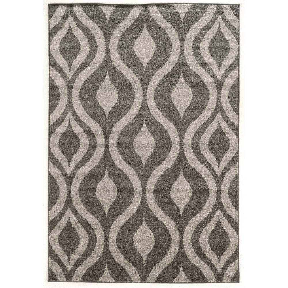 Lovely Linon Home Decor Claremont Drops Grey And Grey 2 Ft. X 3 Ft. Rectangle