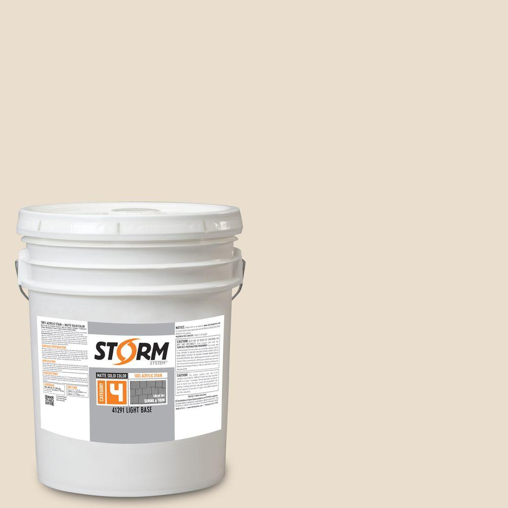 Storm system category 4 5 gal seashell matte exterior wood siding 100 acrylic latex stain - Exterior wood paint matt pict ...