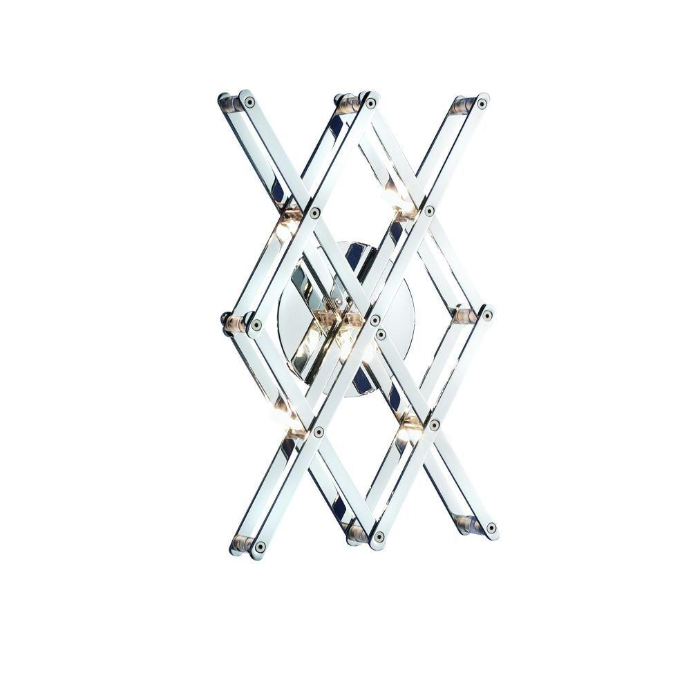 Eurofase Vex Collection 5-Light Chrome Wall Sconce-DISCONTINUED