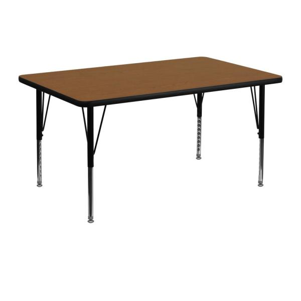 Flash Furniture Oak Kids Table XUA3048RECOAKHP