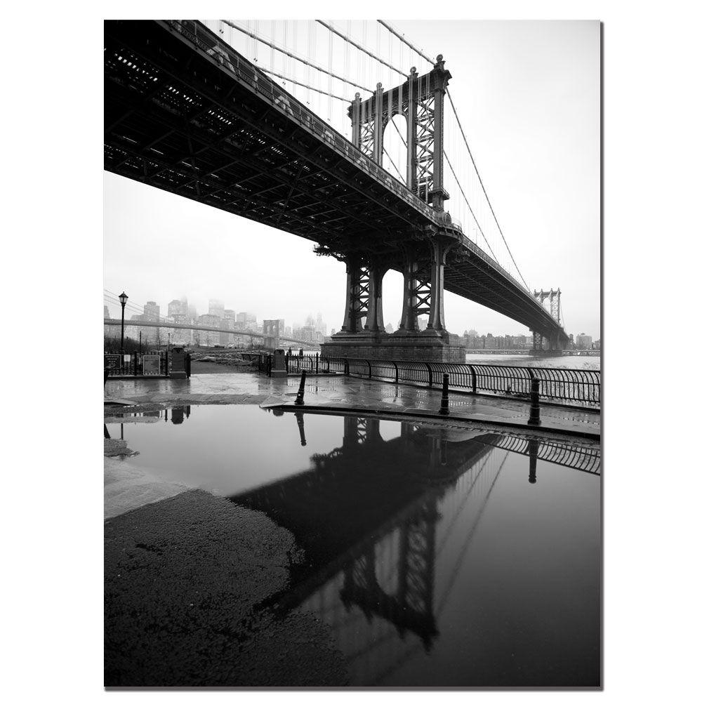 null 24 in. x 32 in. Manhattan Bridge Canvas Art