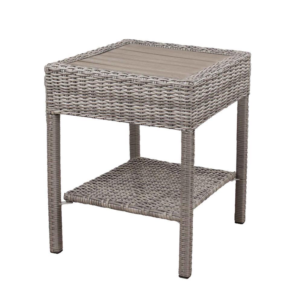 Cambridge Grey Wicker Outdoor Side Table