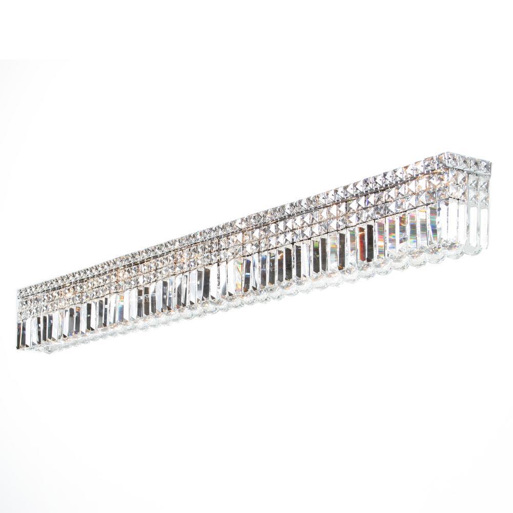 Cascade Collection 12-Light Chrome Crystal Sconce