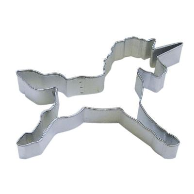 12-Piece 4.5 in. Unicorn Tinplated Steel Cookie Cutter & Recipe