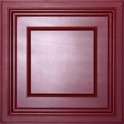 Madison Merlot 2 ft. x 2 ft. Lay-in Coffered Ceiling Panel (Case of 6)