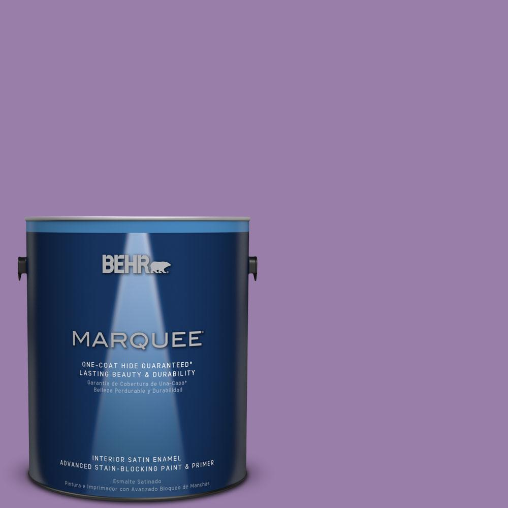 1 gal. #MQ4-61 Lilac Intuition One-Coat Hide Satin Enamel Interior Paint