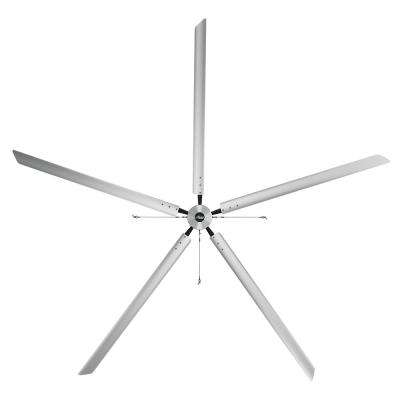 Titan 20 ft. 220-Volt Indoor/Outdoor Anodized Aluminum 3 Phase Industrial Ceiling Fan