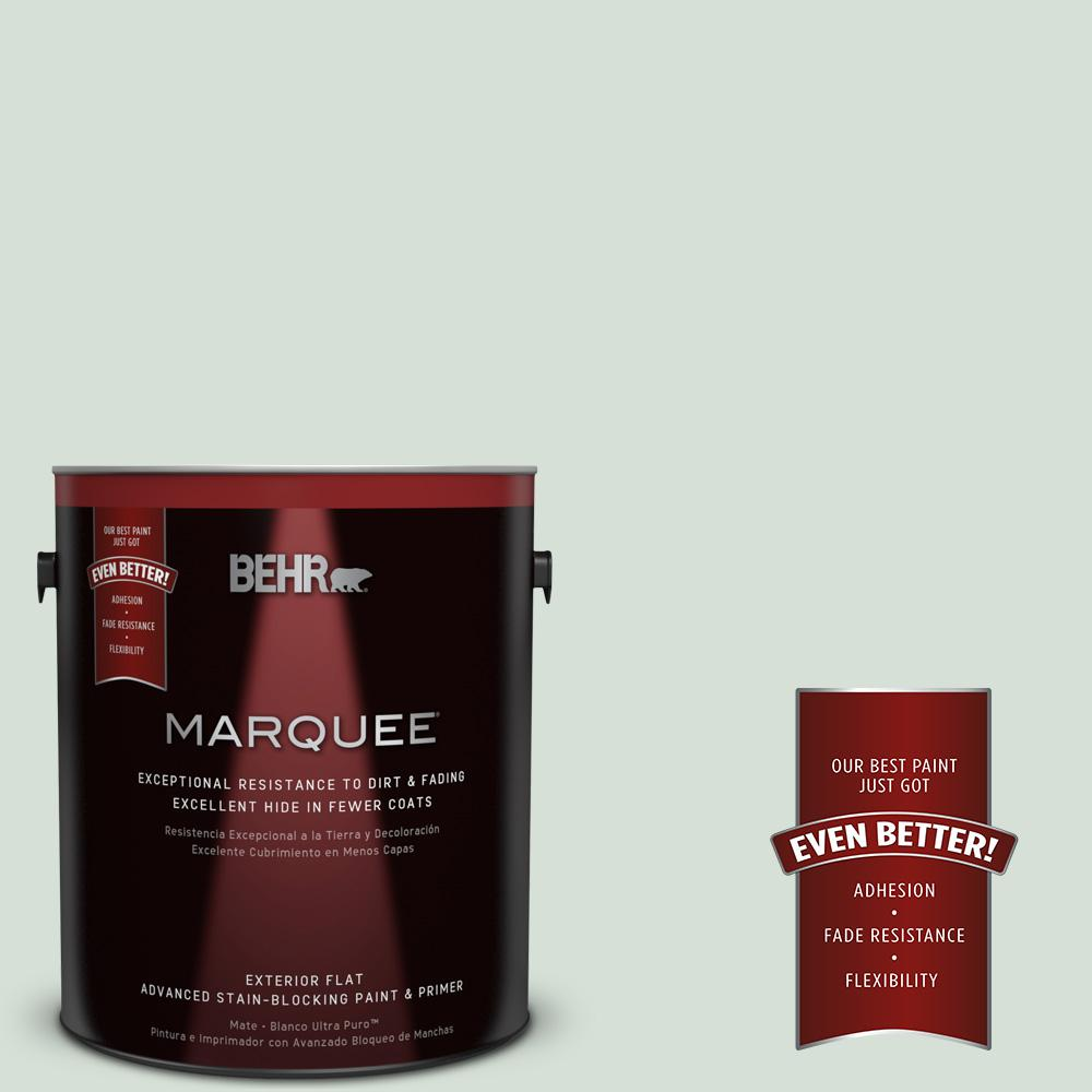BEHR MARQUEE 1-gal. #S410-1 River Mist Flat Exterior Paint