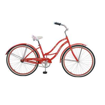 26 in. Women's Vintage Cruiser in Red