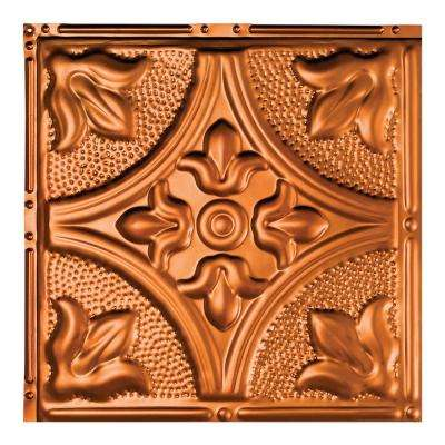 Jamestown Copper 12 in. x 12 in. Nail-Up Ceiling Tile Sample