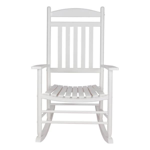 Maine White Wood Outdoor Porch Rocker