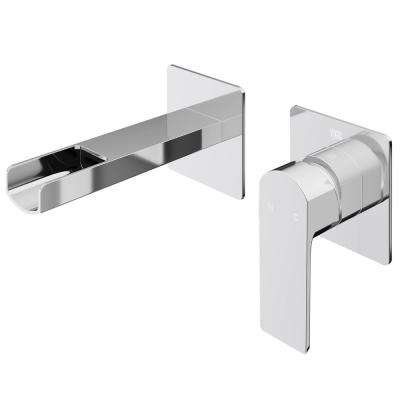 Atticus Single-Handle Wall Mount Bathroom Faucet in Chrome