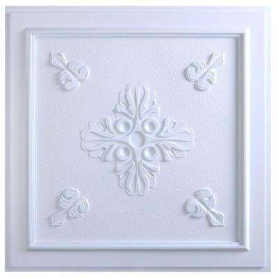 Belfast 2 ft. x 2 ft. Lay-in or Glue-up Ceiling Tile in White (40 sq. ft. / case)