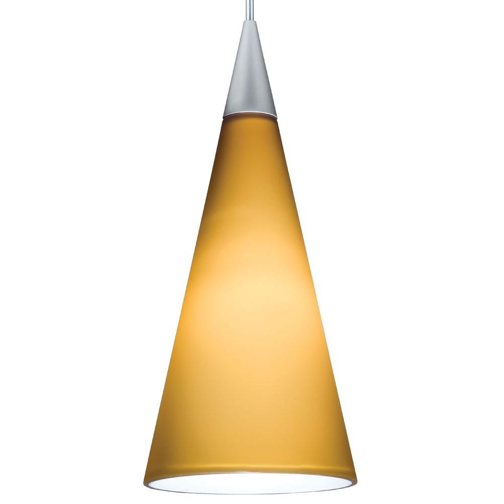 Juno 1-Light Sunset Gold LED Pendant Kit Tall Cone