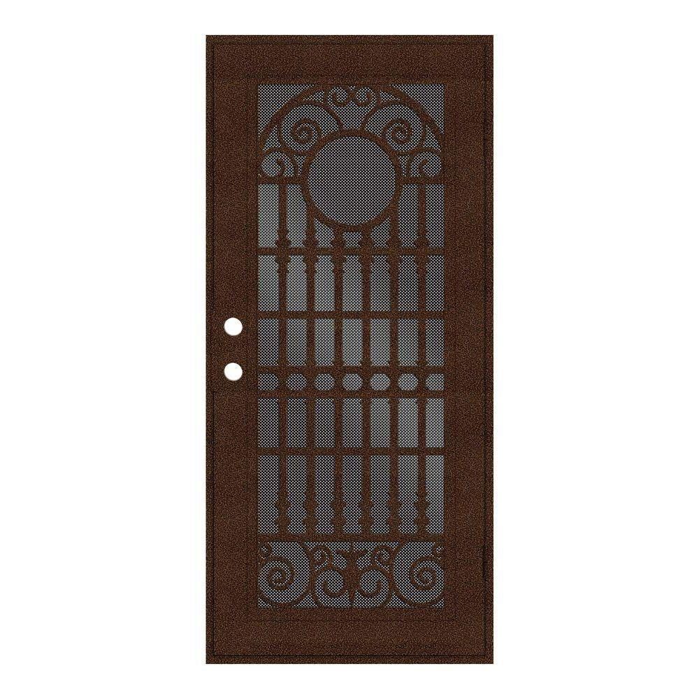 aluminum security screen door. Unique Home Designs 36 In. X 80 Spaniard Copperclad Right-Hand Surface Aluminum Security Screen Door