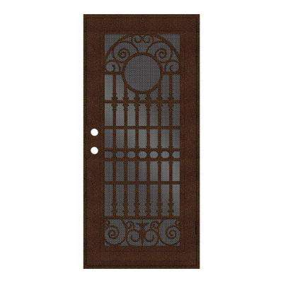 Spaniard Copperclad Surface Mount Aluminum Security Door w/ Perforated Aluminum Screen