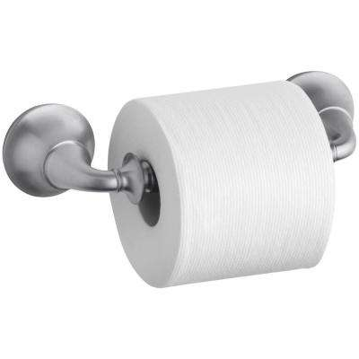 Forte Traditional Wall-Mount Double Post Toilet Paper in Brushed Chrome