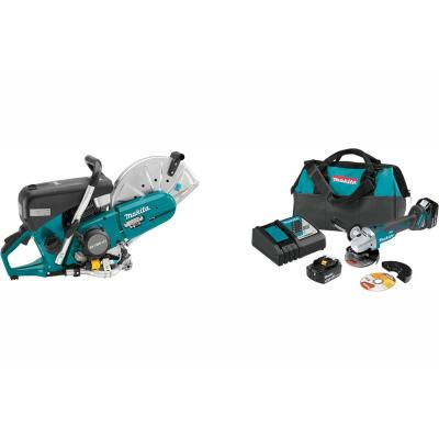 14 in. MM4 76 cc 4-Stroke Engine Gas Saw/Bonus 18-Volt LXT Brushless Cordless 4-1/2 in./5 in. Cut-Off/Angle Grinder Kit