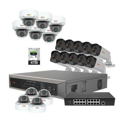 Ultra Plus HD Commercial Grade 32-Channel 4TB NVR Surveillance System with 20 4-MP Cameras & 20 100 ft. CAT5E