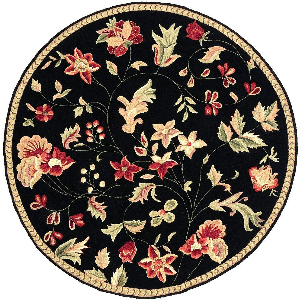 Schuyler Black 4 ft. Round Area Rug