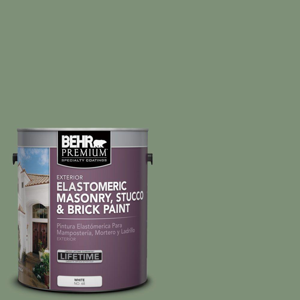1 gal. #MS-60 Desert Sage Elastomeric Masonry, Stucco and Brick Paint