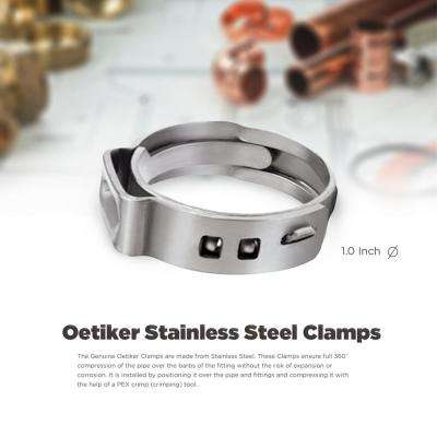 1 in. Stainless Steel Oetiker Pex Cinch Clamp