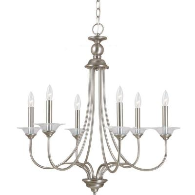 Lemont 6-Light Antique Brushed Nickel Single Tier Chandelier