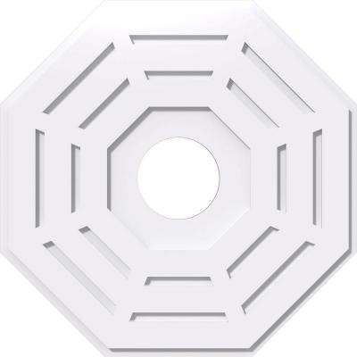 26 in. OD x 6 in. ID x 1 in. P Westin Architectural Grade PVC Contemporary Ceiling Medallion