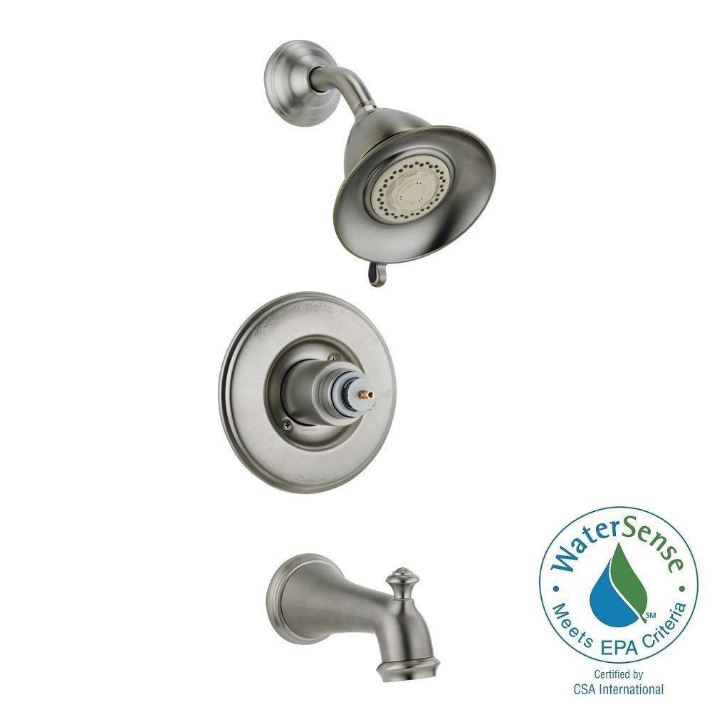 Delta Victorian 1-Handle 3-Spray Tub and Shower Faucet Trim Kit ...