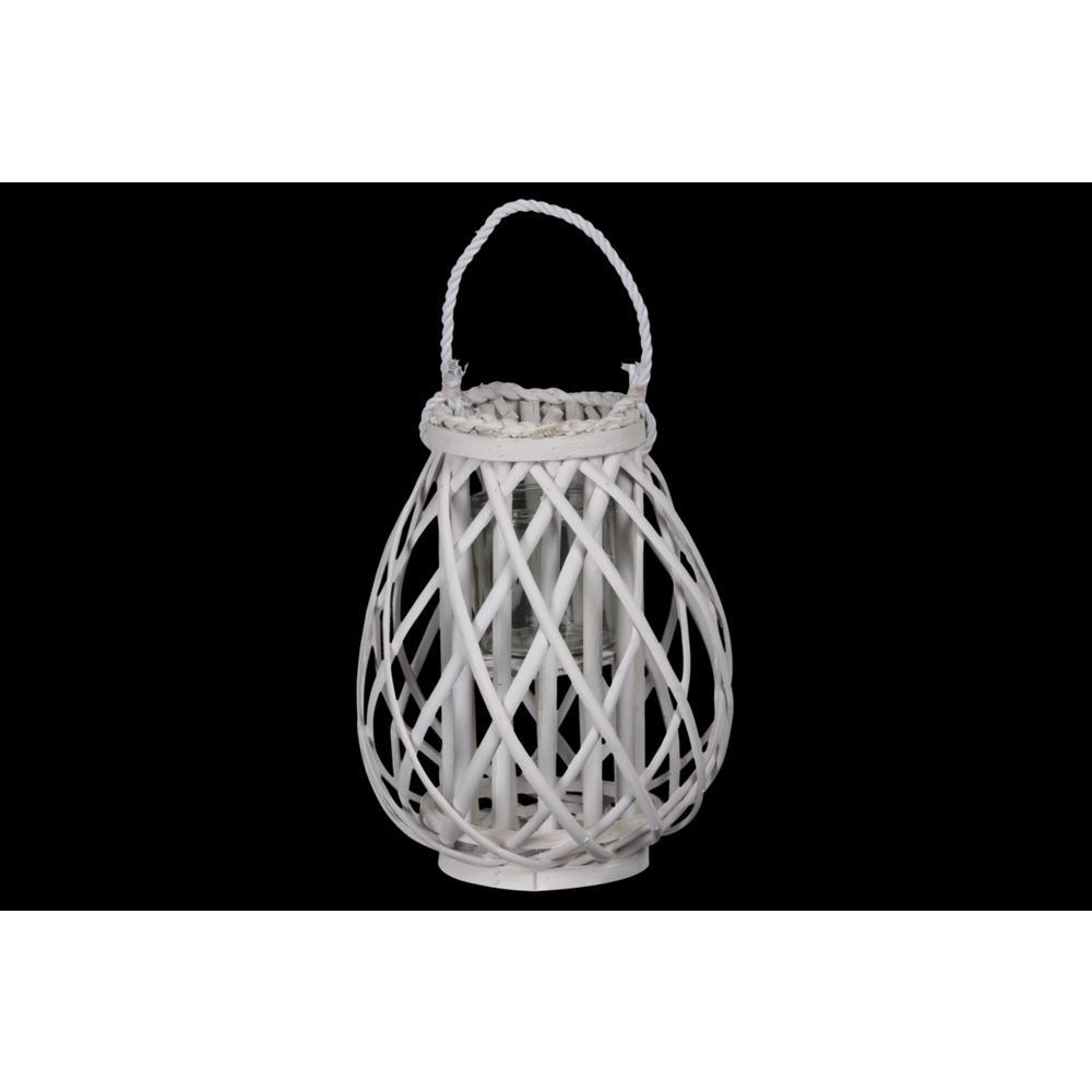 Coated White Candle Lantern