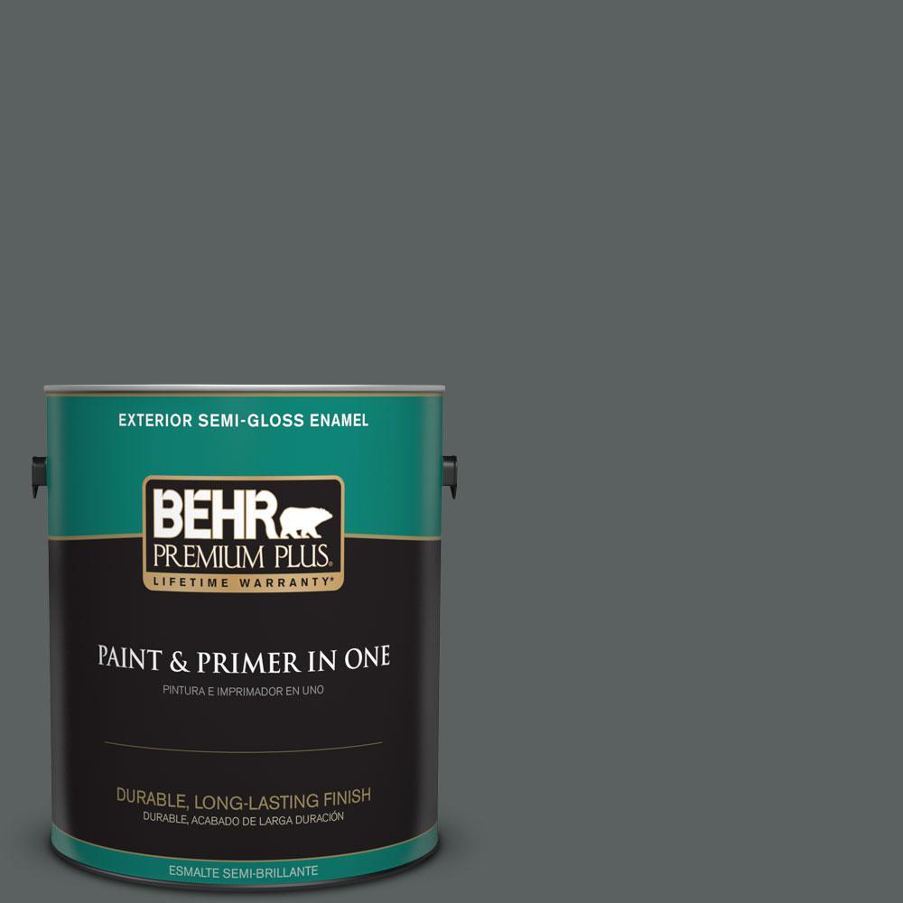 BEHR Premium Plus 1-gal. #720F-6 Paramount Semi-Gloss Enamel Exterior Paint
