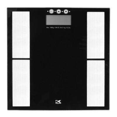 Electronic Digital Body Fat Scale in Black