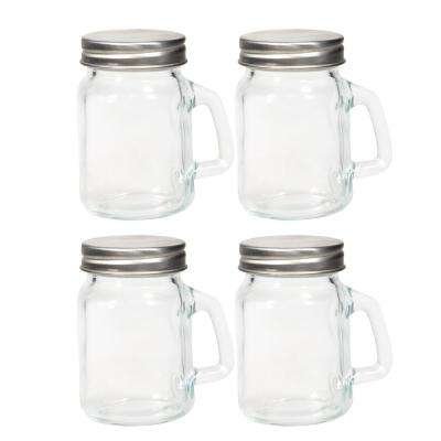 Mixologist 5 fl. oz. Quality Shot Glasses with Carry Handle (4-Pack)